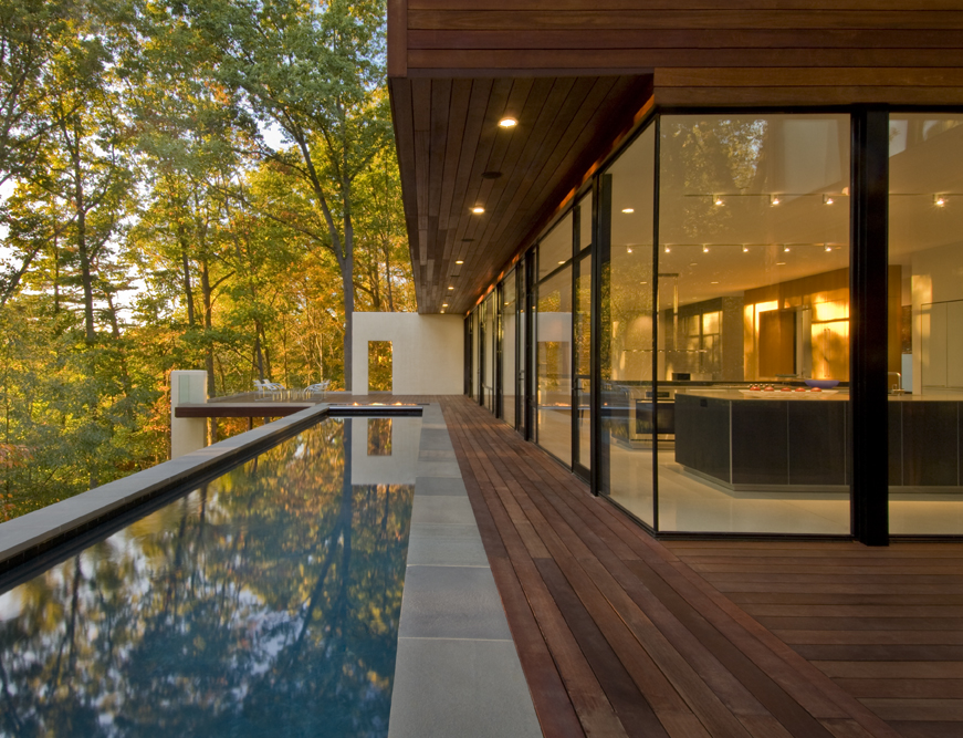 Wissioming residence architecture style for Modern forest house design
