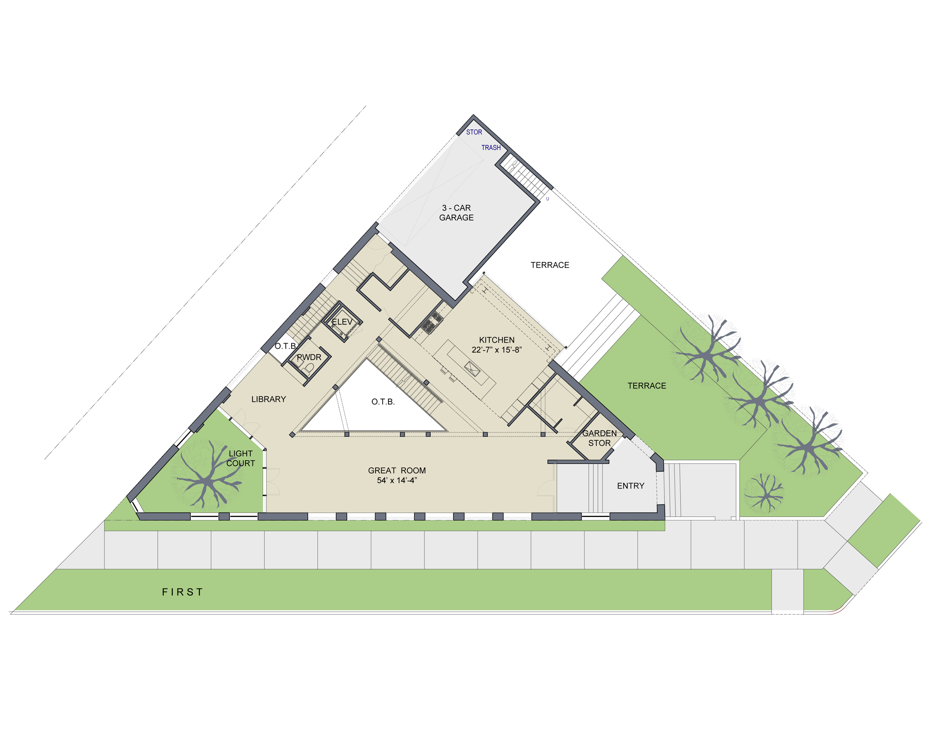 Pics For Triangle Shaped Building Plan