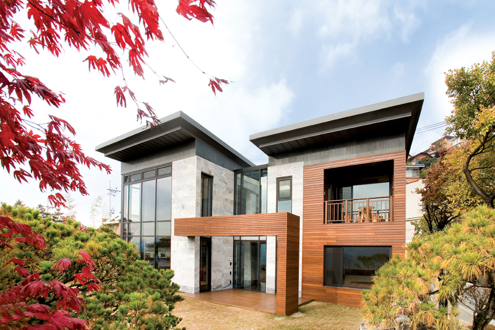 P house architecture style for Korean simple modern house
